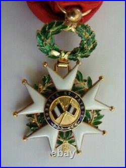 ORDRE LEGION D'HONNEUR IIIe REP. OFFICIER OR 18 CARATS Kt + ECRIN