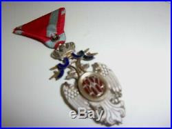 Ordre De L'aigle Blanc De Serbie A Titre Militaire 1914-1918