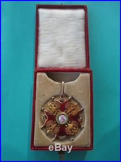 Ordre De Saint Stanislas 2° Classe En Or