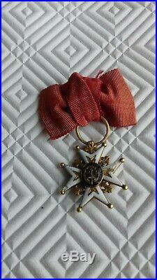 Ordre De St Louis Miniature En Or