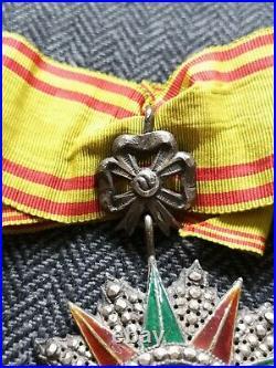 Ordre Du Nichan Al Iftikhar Ali Bey Croix De Commandeur Tunisie Médaille France