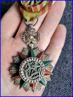 Ordre Du Nichan Al Iftikhar Mohammed El Naceur Bey Croix D'officier Tunisie