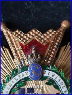 Ordre Isabelle la Catholique Plaque Boullanger en OR