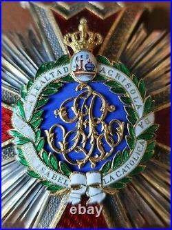 Ordre Isabelle la Catholique Plaque Kretly