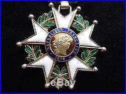 Ordre Légion d'Honneur 1870 Commandeur vermeil Bijoutier
