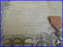 Ordre Légion d'Honneur Diplome Napoléon III attribué régiment infanterie marine