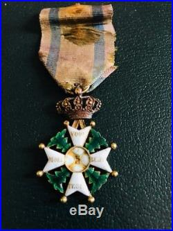 Ordre Militaire De Guillaume En Or Royaume Des Pays Bas 1815