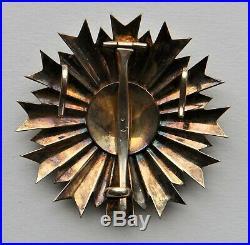 Ordre National du Mérite, Plaque de Grand Croix en vermeil, 1er modèle