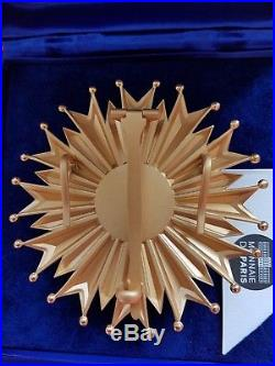 Ordre National du Mérite Plaque de grand croix vermeil et émail état neuf