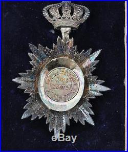 Ordre Royal du Cambodge, chevalier, centre en or, repercé, signé Kretly, écrin