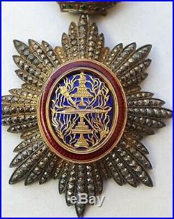 Ordre Royal du Cambodge, commandeur en vermeil