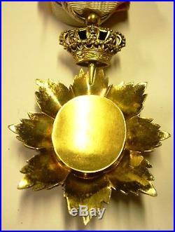 Ordre Royal du Cambodge rang Officier argent vermeil
