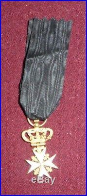 Ordre de Malte en or époque Restauration