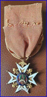 Ordre de Saint Louis croix de chevalier en or période Restauration 1815