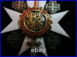 Ordre de Sainte Catherine du Mont Sinaï 1891-1905 chevalier argent et or