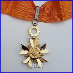 Ordre de l'Economie Nationale, croix de commandeur en vermeil