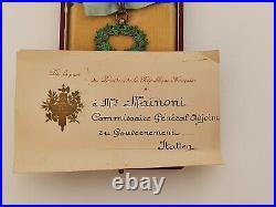 Ordre de l'Etoile Noire du Bénin, commandeur en vermeil, écrin, attribution