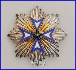 Ordre de l'Etoile Noire du Bénin, plaque de grand croix en argent