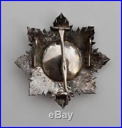 Ordre de l'Etoile Noire du Bénin, plaque de grand croix en bronze argenté