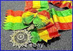 Ordre de l'Etoile d'Ethiopie, bijou de grand-croix avec écharpe/ Vermeil