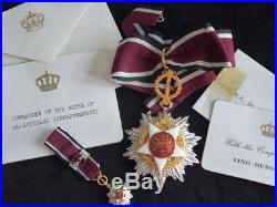 Ordre de l indépendance Commandeur King Hussein I