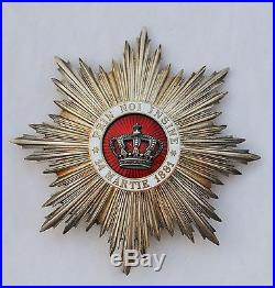 Ordre de la Couronne de Roumanie, ensemble de Grand Officier dans son écrin