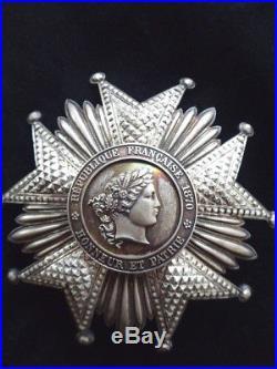 Ordre de la Légion d'Honneur 1870 Plaque Argent