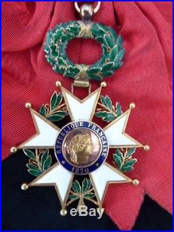 Ordre de la Légion d'Honneur 1870 bijou de grand Croix Or III ém République