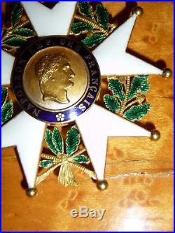 Ordre de la Légion d'Honneur à titre de commandeur en or, époque 2nd Empire