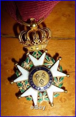 Ordre de la Légion d'Honneur en or époque 1er Empire transformée