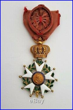 Ordre de la Légion d'Honneur, officier en or, Restauration 1814