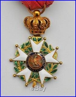 Ordre de la Légion d'Honneur, officier en or, Second Empire, modèle hybride