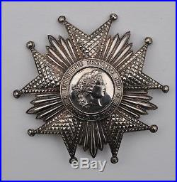 Ordre de la Légion d'Honneur, plaque de Grand Croix, III° République, argent