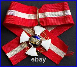 Ordre de la couronne d'Italie, Commandeur en or, 52 mm