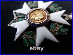 Ordre de la légion Honneur Chevalier Argent Type I modifie Type II