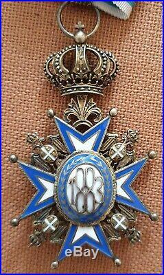 Ordre de saint sava, médaille plus commandeur en argent