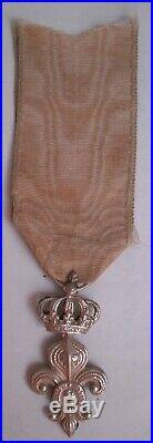 Ordre décoration du Lys Restauration PROFIL LOUIS XVIII roi royal medal medaille