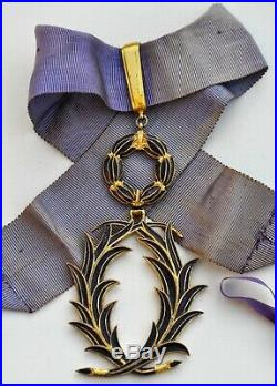 Ordre des Palmes académiques, insigne de commandeur en vermeil