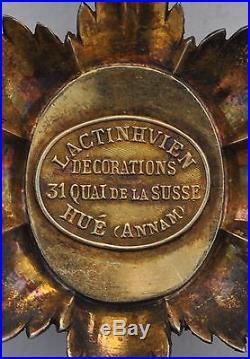 Ordre du Dragon d'Annam, Officier, signé de la maison Lactinhvien à Hué
