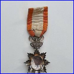 Ordre du Dragon d'Annam, chevalier en argent, repercé, centre en or