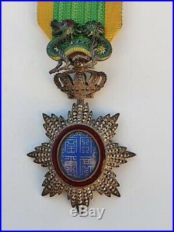 Ordre du Dragon d'Annam, chevalier en vermeil, reperçé, parfait état