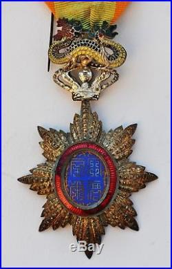 Ordre du Dragon d'Annam, chevalier, métal argenté, parfait état