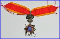 Ordre du Dragon d'Annam, commandeur en vermeil, reperçé