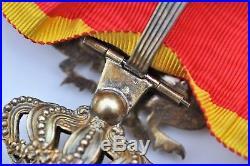 Ordre du Dragon d'Annam, commandeur en vermeil, ruban militaire