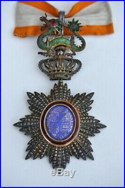 Ordre du Dragon d'Annam, insigne de commandeur en vermeil et émail