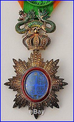 Ordre du Dragon d'Annam, officier en vermeil