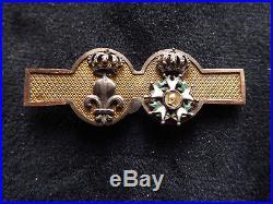 Ordre du Lys Ordre de la Légion d honneur Restauration Barrette OR