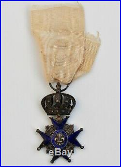 Ordre du Lys, croix du lys, émail bleu, Restauration 1814