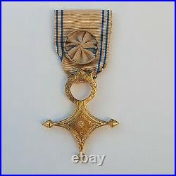 Ordre du Mérite Saharien, croix d'officier en vermeil