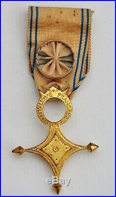 Ordre du Mérite Saharien, officier en vermeil
